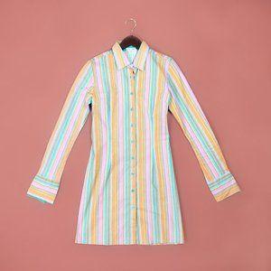 Soho Jeans fitted stripe long sleeve dress NWT
